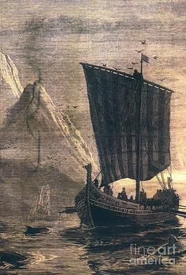 Norwegian Viking Longship Poster by Granger
