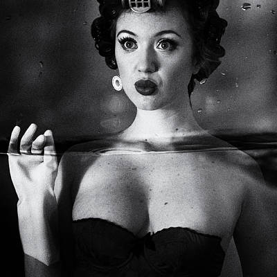 Corsets Poster featuring the photograph Not Drowning, Waving by Mel Brackstone