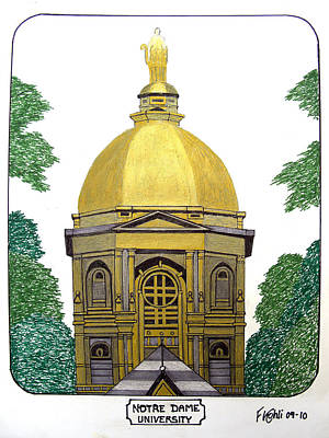 Notre Dame Poster by Frederic Kohli