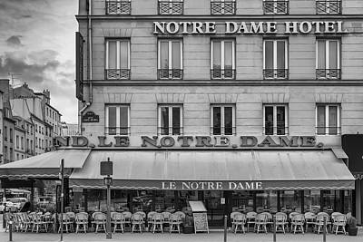 Notre Dame Hotel Poster by Georgia Fowler