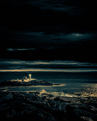 Nubble Lighthouse Poster by Bob Orsillo