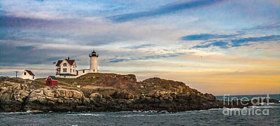 Nubble Lighthouse, York, Maine Poster by Ken Marsh