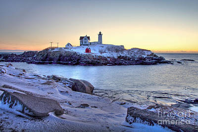 Nubble Sunrise Poster by Susan Cole Kelly