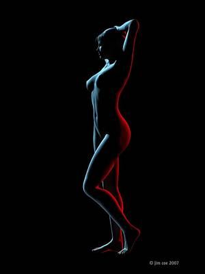 Nude Edge Light 1 Poster by Jim Coe