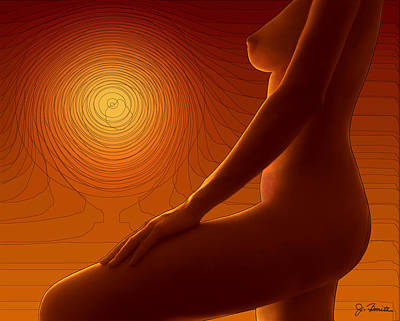 Nude In The Sunset No. 2 Poster by Joe Bonita