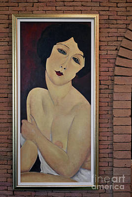 Nude Seated On A Sofa Poster by Ray Evans