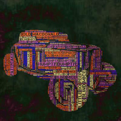 Nursery Rhyme Car Poster by Brandi Fitzgerald