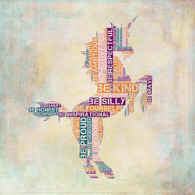 Nursery Rhymes Unicorn Poster by Brandi Fitzgerald