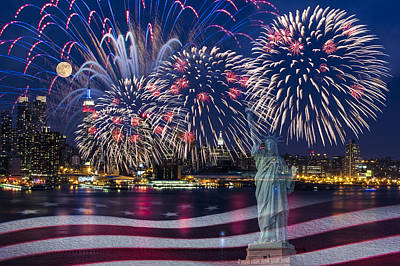 Nyc Fourth Of July Celebration Poster by Susan Candelario