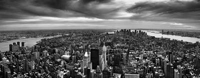 Nyc Manhattan Panorama Poster by Nina Papiorek