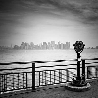 Nyc Manhattan View Poster by Nina Papiorek