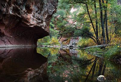 Oak Creek Canyon Reflections Poster by Dave Dilli