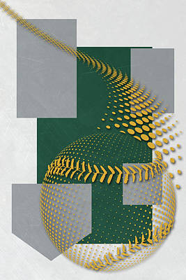 Oakland Athletics Art Poster by Joe Hamilton