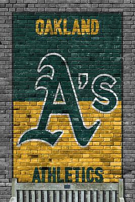 Oakland Athletics Brick Wall Poster by Joe Hamilton