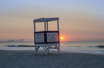 Ocbp - Sunrise In Ocean City Poster by Bill Cannon