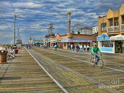 Ocean City Boardwalk Poster by Edward Sobuta