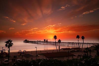 Oceanside Sunset 9 Poster by Larry Marshall