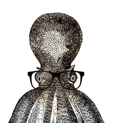 Octopus Head Poster by Frank Tschakert