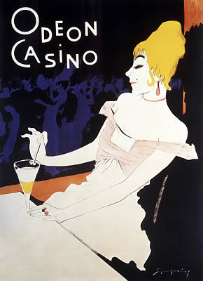Odeon Casino French C. 1920 Poster by Daniel Hagerman
