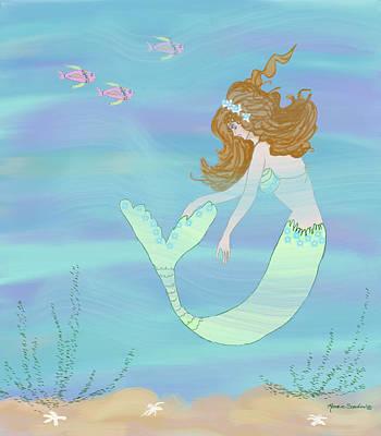 Oh My, I'm A Fish Poster by Rosalie Scanlon