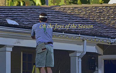 Oh The Joys Of The Season Poster by Linda Brody