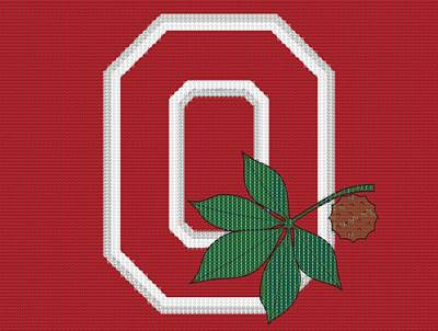 Ohio State Buckeyes Beer Cap Mosaic Poster by Dan Sproul