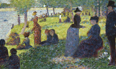 Oil Sketch For La Grande Jatte Poster by Georges Pierre Seurat