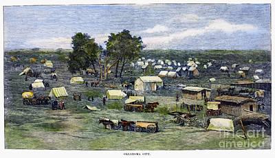 Oklahoma City, 1889 Poster by Granger