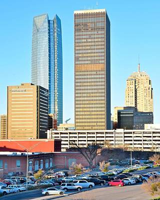 Oklahoma City Skyscrapers Poster by Frozen in Time Fine Art Photography