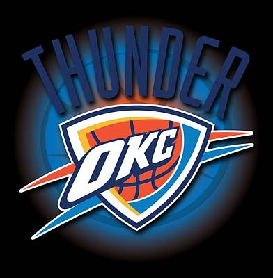 Oklahoma City Thunder Poster by Renee Armstrong