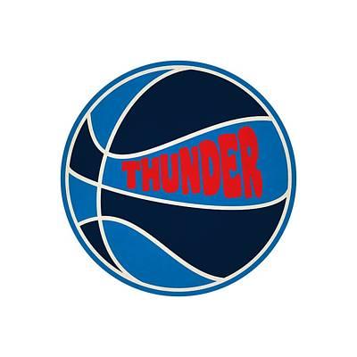 Oklahoma City Thunder Retro Shirt Poster by Joe Hamilton