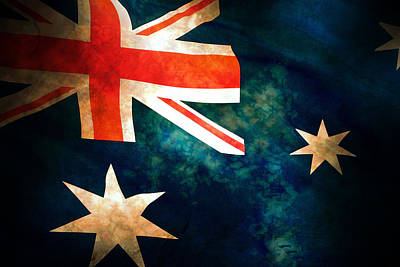 Old Australian Flag Poster by Phill Petrovic