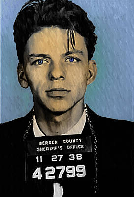 Old Blue Eyes - Frank Sinatra Poster by Bill Cannon