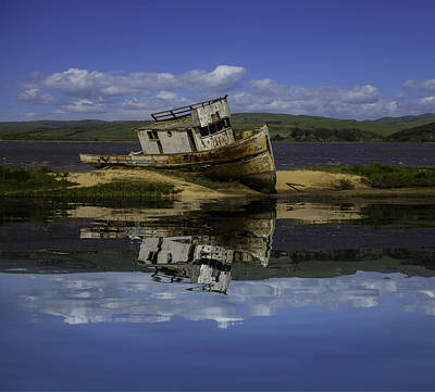 Old Boat Reflection Poster by Garry Gay