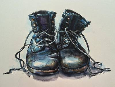 Old Boots Poster by Christine Karron