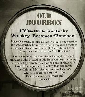 Old Bourbon Poster by Mel Steinhauer