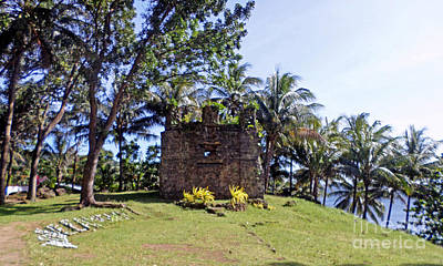 Old Church Ruins Of Camiguin Island Poster by Kay Novy