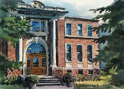 Old Court House Poster by Christine Karron
