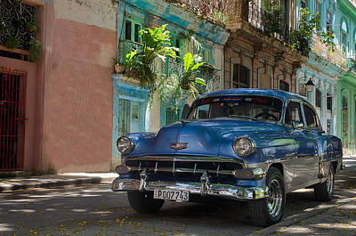Old Cuban Car Poster by Blaz Gvajc