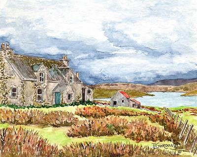 Old Farm Isle Of Lewis Scotland Poster by Timithy L Gordon