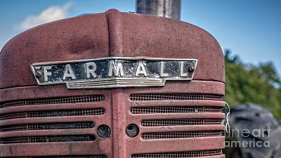 Old Farmall Tractor Grill And Nameplate Poster by Edward Fielding