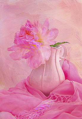 Old Fashion Pink Peony Poster by Daphne Sampson