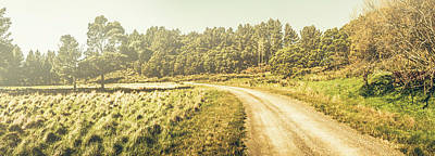 Old-fashioned Country Lane Poster by Jorgo Photography - Wall Art Gallery