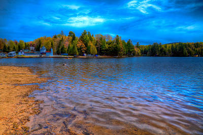 Old Forge Pond During The 2015 Paddlefest Poster by David Patterson