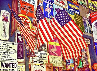Old Glory Poster by Joan Reese