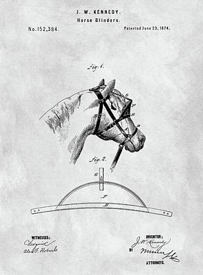 Old Horse Blinker Patent Poster by Dan Sproul