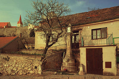 Old House In Znojmo. South Moravia Poster by Jenny Rainbow