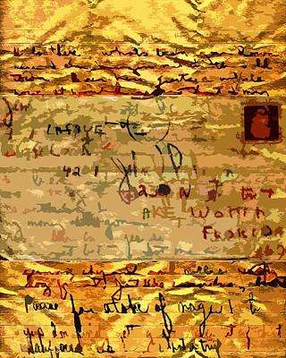 Old Letter Poster by John Vincent Palozzi