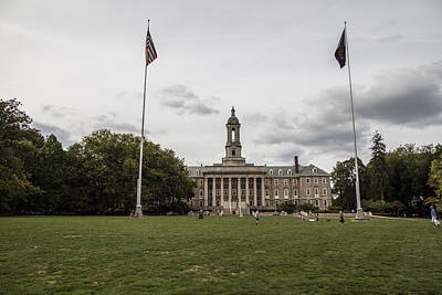 Old Main Penn State Wide Shot  Poster by John McGraw