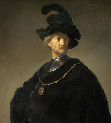 Old Man With A Gold Chain Poster by Rembrandt